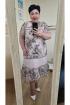 Платье Vittoria Queen 13823 капучино-серый