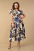 Платье Lady Style Classic 1976/1 бежево_синий_цветы