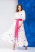 Платье,  Пояс Anastasia 627 молочный+розовый_пояс