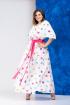 Платье,  Пояс Anastasia 627А молочный+розовый_пояс