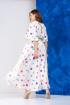 Платье,  Пояс Anastasia 627 молочный+салатовый_пояс
