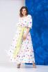 Платье,  Пояс Anastasia 627А молочный+салатовый_пояс