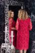 Платье LeNata 11908 марсала
