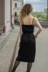 Платье Sisteroom ПлД-054 черно-изумрудный