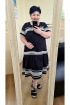 Платье Vittoria Queen 13993 черный-молоко