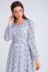Платье Viola Style 0971 белый_в_цветочек