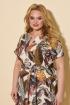 Платье БелЭльСтиль 834 дизайн-коричневый