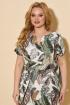 Платье БелЭльСтиль 834 дизайн-олива