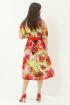 Платье Магия моды 1928 красные_цветы