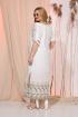Платье Liliana 976 белый+оливка