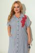 Платье Michel chic 993 синий+красный