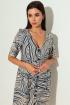 Платье Michel chic 2004/2 бежевый-синий