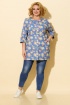 Жакет БелЭльСтиль 756 голубой+цветы