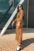 Платье Romgil С014 оранжевый,черный