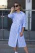 Платье Sisteroom Пл-086 бело-голубой