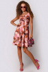 Платье PATRICIA by La Cafe NY14593-1 розовый,рыжий