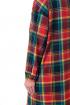 Платье Мишель стиль 972 красно-зеленая клетка