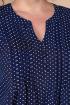 Платье Линия Л Б-1722 тёмно-синий_ горошек