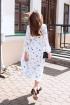 Платье KRASA 163-21 буслы_белые