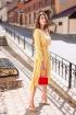 Платье KRASA 186-21 желтый