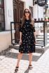 Платье KRASA 144-21 буслы_черные