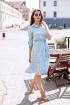 Платье KRASA 144-21 голубой