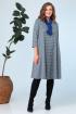 Платье, Шарф Anastasia 704+шарфик синий