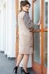 Платье Vittoria Queen 14613 черный-бежевый