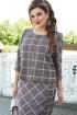 Платье Vittoria Queen 14503 серо-розовый