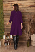 Платье, Шарф Anastasia 495 т.лиловый