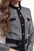 Платье Nova Line 50159 серый_люрекс