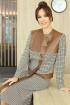 Жакет,  Юбка Мода Юрс 2599-1 коричневый