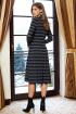 Платье AYZE 1103 хаки/синий,дизайн_полоска