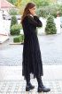 Платье AYZE 2322 черно-белый