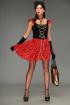 Платье, Шарф T&N 03-Дракулаура черно-красный