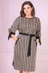 Платье VOLNA 1212 коричневый-кэмел,черный
