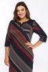Платье Lady Style Classic 1123/7 темно-синий_красный