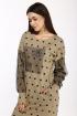 Платье Karina deLux М-9953 бежевый_горох