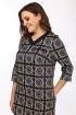 Платье Lady Style Classic 1511/1 темно-синий_ромашки