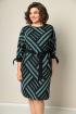 Платье VOLNA 1212 бирюзово-черный