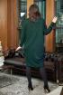 Платье Anastasia 726 т.зеленый
