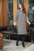 Платье Anastasia 727 серый-шоколад
