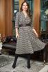 Платье,  Пояс Anastasia 728 серо-шоколадный