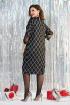 Платье Милора-стиль 954 чёрное_с_серым