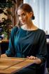 Платье Alani Collection 1557 зеленый