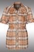 Блуза Таир-Гранд 6298-2 оранжклетка