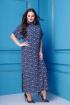 Платье Anastasia 261 темно-синий,белый
