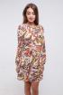 Платье Madech 185282 бежевый,терракотовый