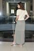 Платье AMORI 9374 серо-оливковый
