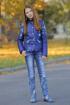 Куртка Lona 5408И синий_принт